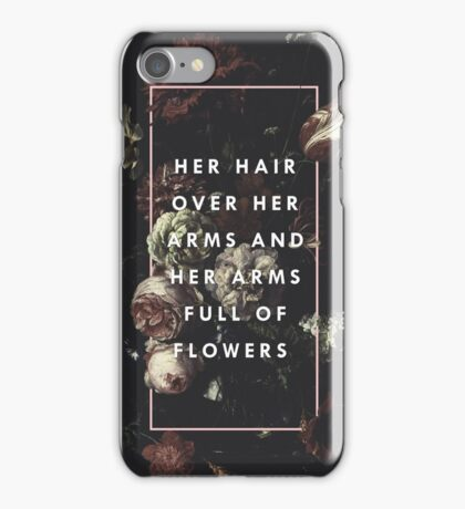 Arms Full Of Flowers iPhone Case/Skin