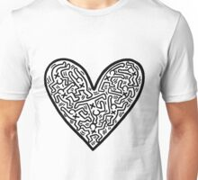Keith Haring Heart Unisex T-Shirt