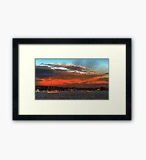 Nautical Bold Sunrise. Original exclusive photo art. Framed Print