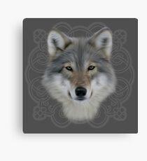 Wolf and saxon motif large image Canvas Print