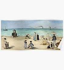 Edouard Manet - On the Beach, Boulogne sur Mer (1868)  Poster