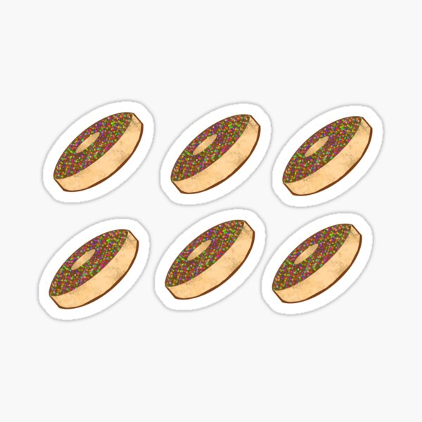 Watercolor Chocolate Sprinkle Donuts (Pack) Sticker