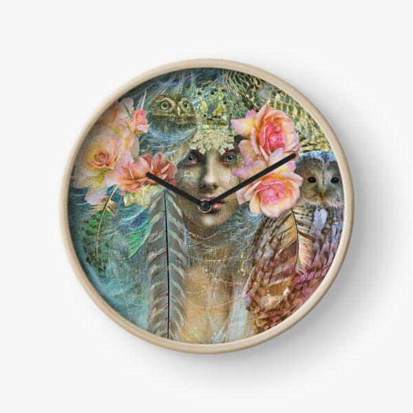 Wild Woman Owl Clock