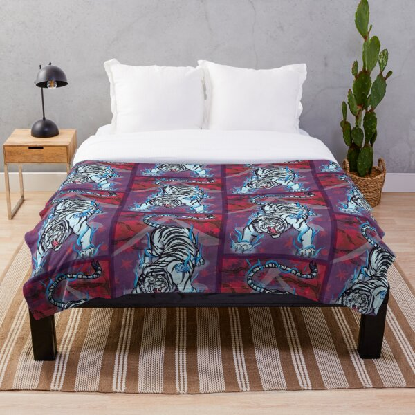 Four Symbols: White Tiger of the West  Throw Blanket