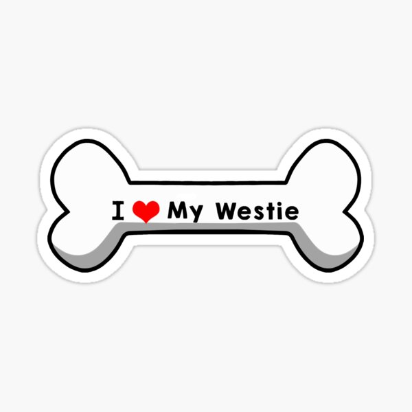 I Love My Westie Sticker