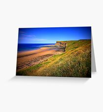 Hunt Cliff and Saltburn Beach, North Yorkshire, England ( 3 Features)  Greeting Card