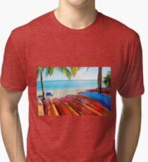 A Day in Paradise Tri-blend T-Shirt