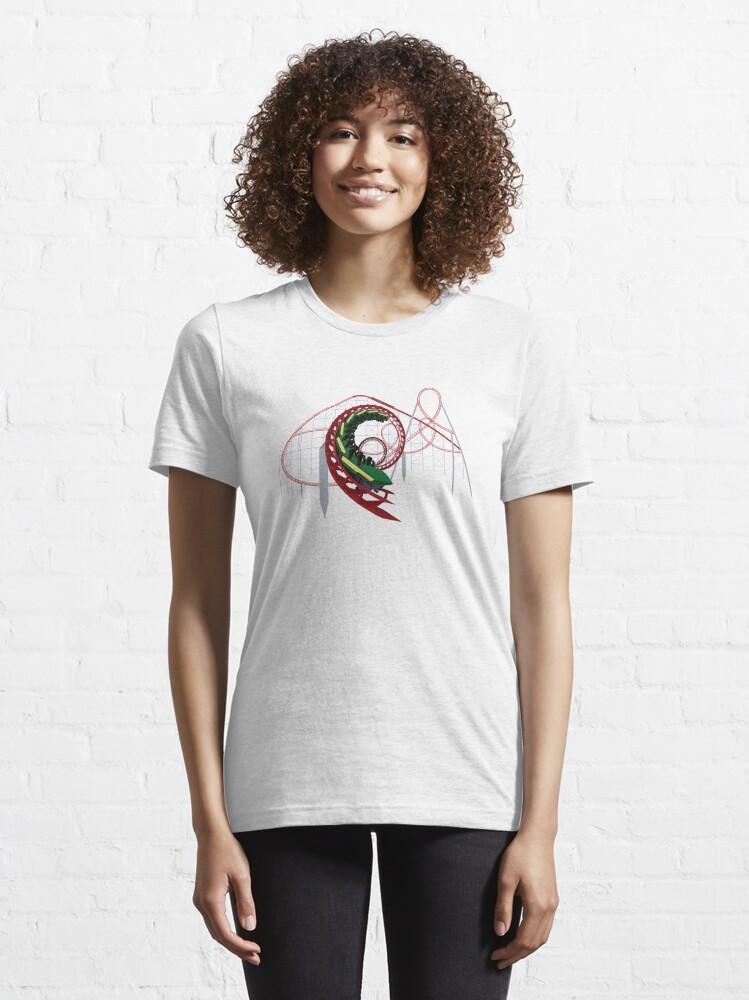 Alternate view of Viper at Magic Mountain Coaster Design Essential T-Shirt