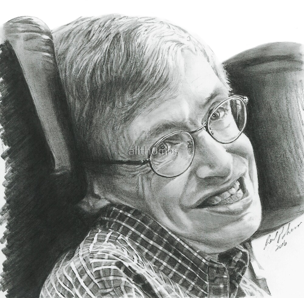 """A TIMELESS SMILE """"STEPHEN HAWKING"""" by reed palmer"""