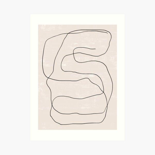 Abstract Scribble Poster   Ink Pen   Minimal Line Drawing   One Line Art Print   Scandinavian Modern   Trendy Wall Art Art Print