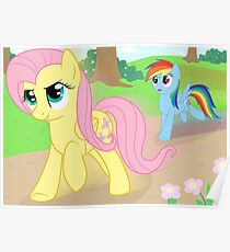 Never race against Fluttershy Poster
