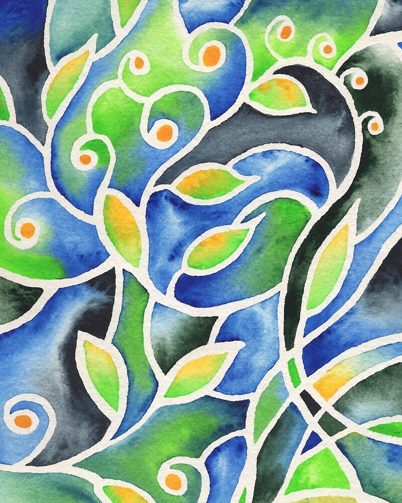 Whimsical Garden Organic Decor III by Irina Sztukowski