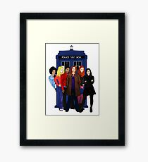 Doctor Who - The Companions Framed Print