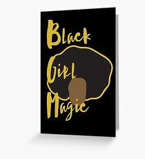 Black Girl Magic Case - Afro (black case) Greeting Card
