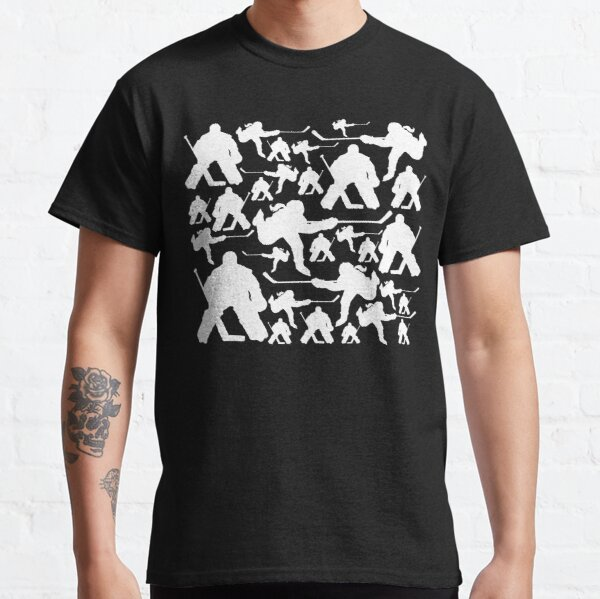 Hockey Player Pattern Classic T-Shirt