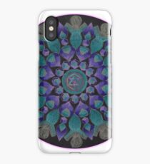 Healing With Angels and Violet Flame Mandala iPhone Case