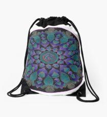 Healing With Angels and Violet Flame Mandala Drawstring Bag