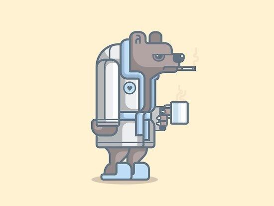 Grumpy Bear by fabric8