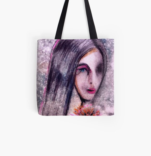 Asian Girl All Over Print Tote Bag