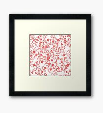 Abstract Cherry Blossoms Framed Print