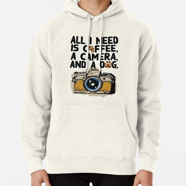 Camera Photography Coffee Dog Lovers Funny Shirt Gift Shirt Pullover Hoodie