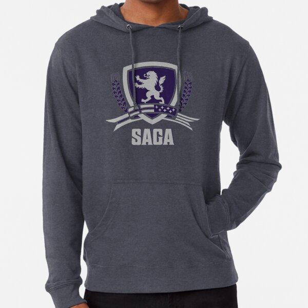 SAGA Official Merchandise BLACK Lightweight Hoodie