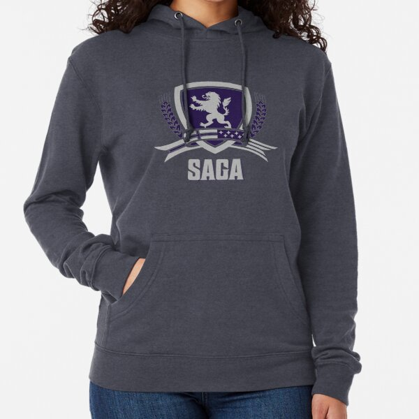 SAGA Official Merchandise BLACK Lightweight Hoodie