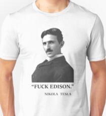 """"""" F*ck Edison """" - By Tesla T-Shirt"""