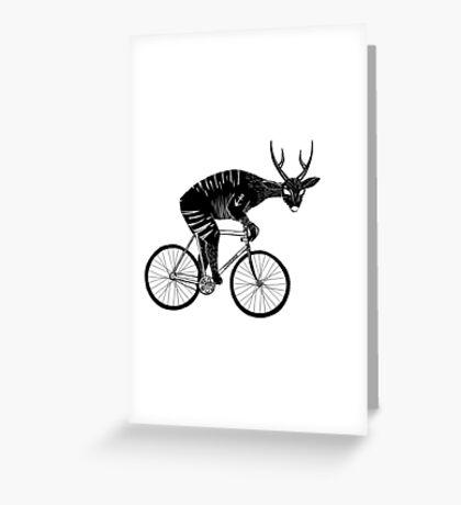 Deer & Bicycle Greeting Card