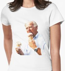 Joe Biden Eating Ice Cream Women's Fitted T-Shirt