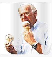 Póster Joe Biden comiendo helado