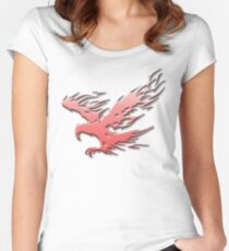 Tribal Eagle Red version Women's Fitted Scoop T-Shirt
