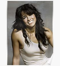 Zeman Michelle Rodriguez - Celebrity (Oil Paint Art) Poster