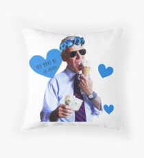 Joe Biden Eating Ice Cream Throw Pillow