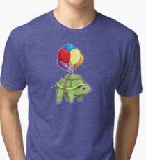 Turtle - Balloon Fun Tri-blend T-Shirt