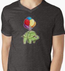 Turtle - Balloon Fun Men's V-Neck T-Shirt