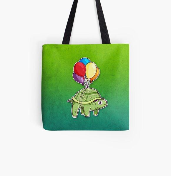 Turtle - Balloon Fun All Over Print Tote Bag