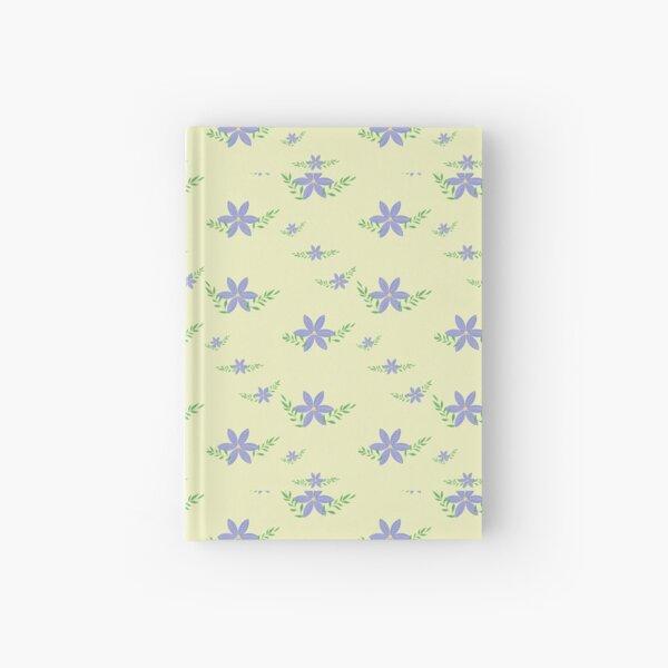 Fresh yellow and purple design Hardcover Journal