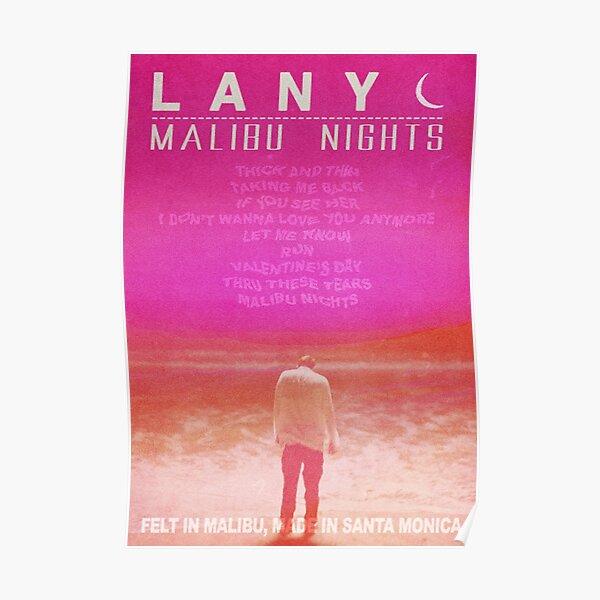 MALIBU NIGHTS - LANY POSTER Poster