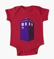 Tardis - Hand Drawn and Colored One Piece - Short Sleeve