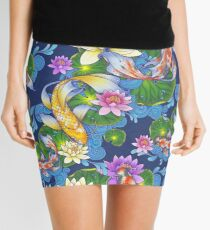 Lotus Koi Pond Mini Skirt