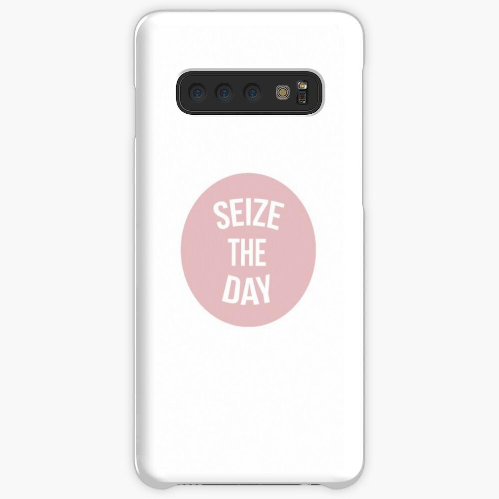 Newsies Aprovecha el día rosa Funda y vinilo para Samsung Galaxy