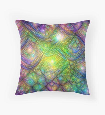 Alien skin #DeepDream Throw Pillow