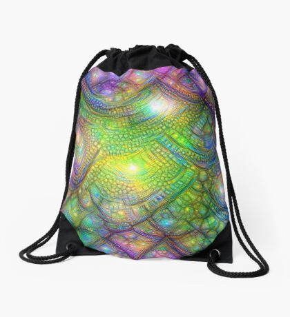 Alien skin #DeepDream Drawstring Bag