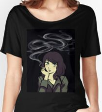 smoke girl Women's Relaxed Fit T-Shirt