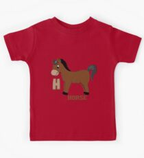 H is for Horse Kids Tee