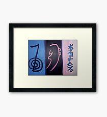'3 Reiki Symbols' Framed Print