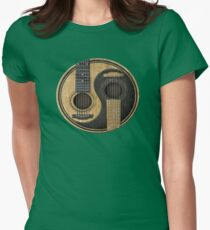 Acoustic Guitars Yin Yang Womens Fitted T-Shirt
