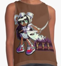 Devoured By Japanese Schoolgirls - Black Haired Girl Contrast Tank