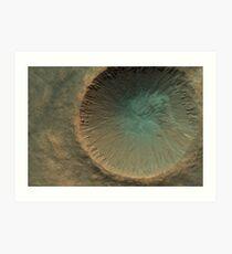 Mars Crater Art Print